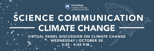 Science Communication Climate Change Virtual Panel